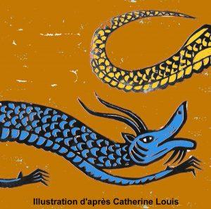 Le dragon bleu et le dragon jaune